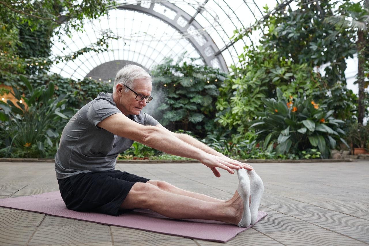using yoga equipment
